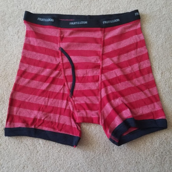 Boys Fruit Of The Loom 3 Boxer Briefs Blue Red Gray Size XL 18-20